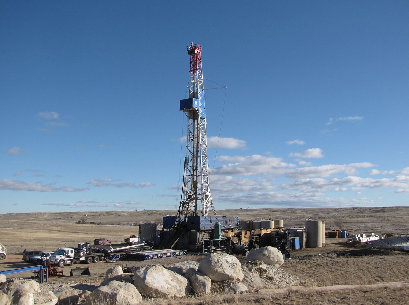 Oil and Gas Drilling Rig Operating (H/t Bureau of Land Management)