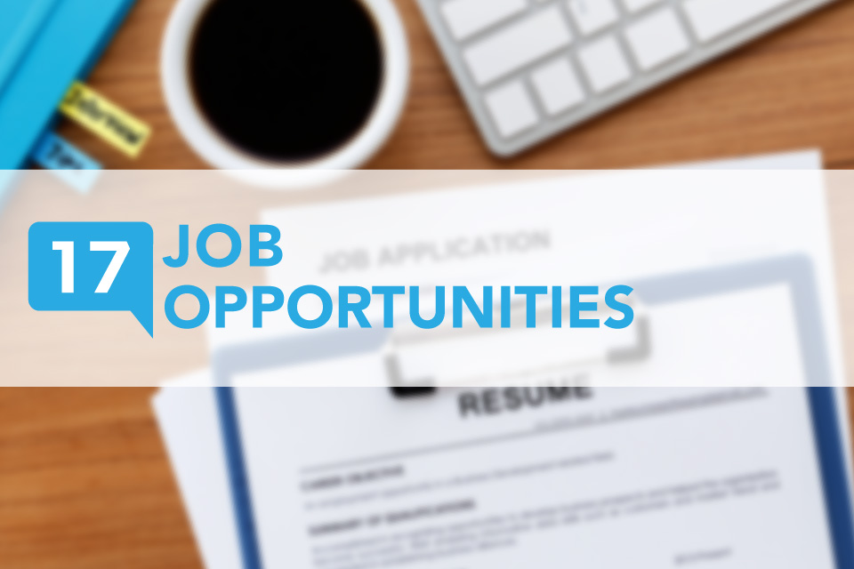 County 17 Weekly Job Opportunities list
