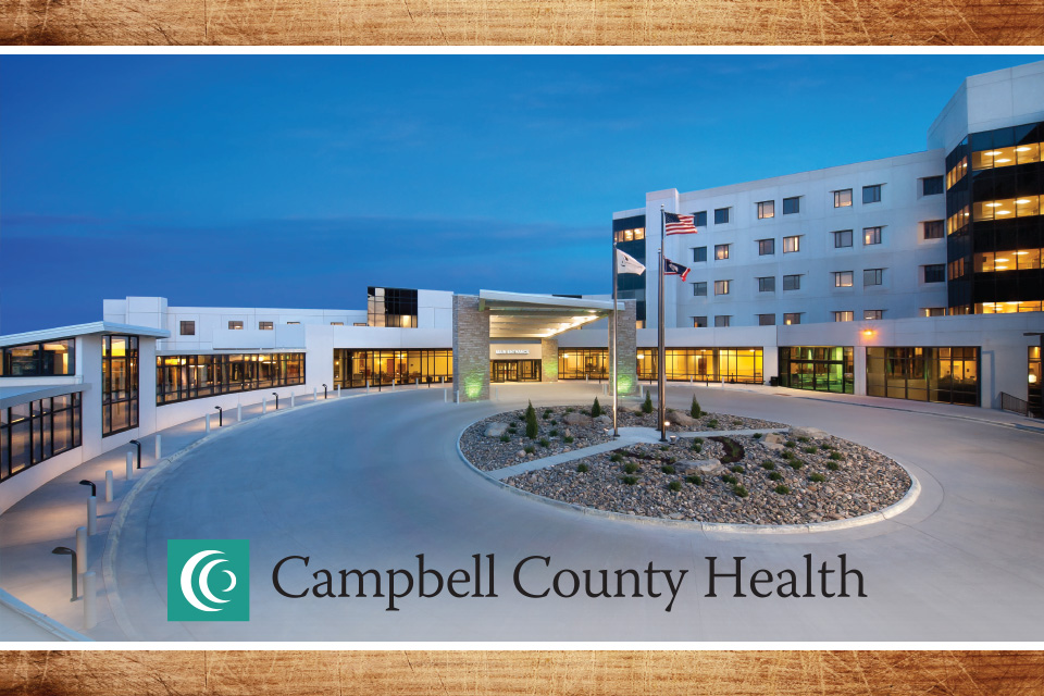 Campbell County Health hospital building exterior with logo