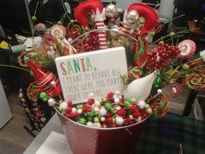 Christmas Basket for Silent Wreath Auction