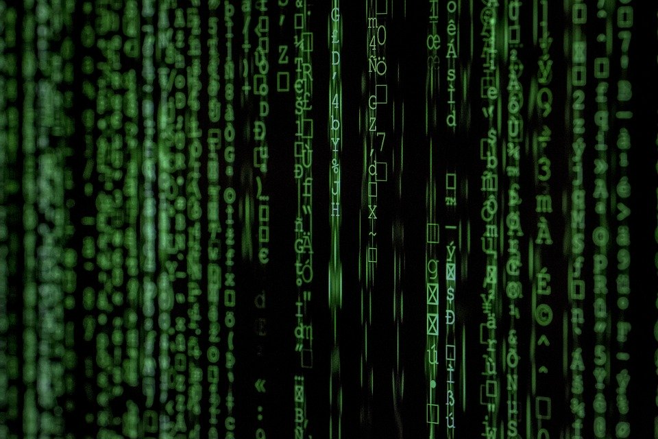 Hacker code. Stock image. Approved for reuse.