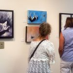 Many people made their way around the gallery at AVA, admiring the pet related artwork.