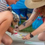 Fur Kids Foundation provided a 'paw print art' station where dog's could create flowers with their paws.