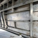 Signatures of veterans that have visited the aircraft over the years.