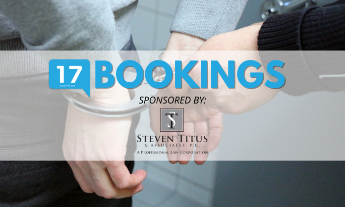 Bookings Sponsored by Steven Titus & Associates, P.C. A Professional Law Company