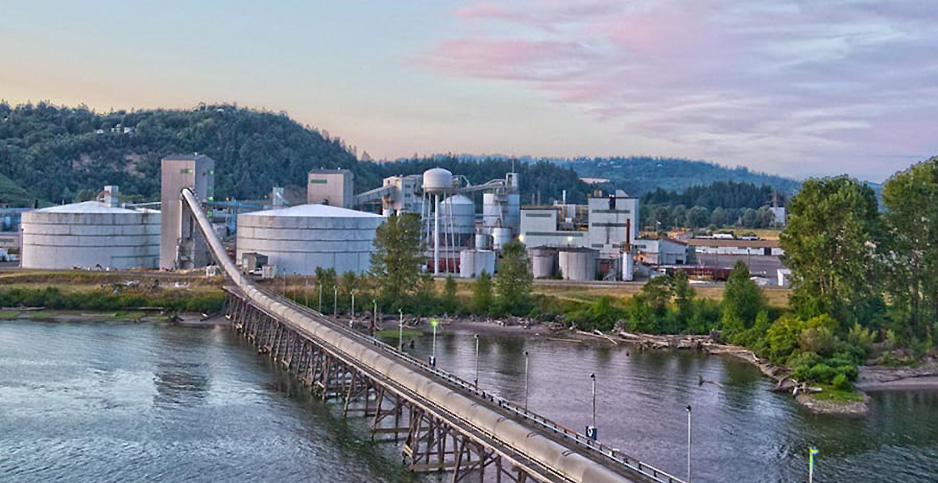 The site of the proposed Millennium Bulk export facility is pictured here in Longview, Wash. (H/tMillennium Bulk Terminals)