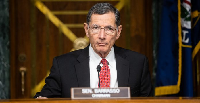 Wyoming Sen. John Barrasso is deciding whether to remain top Republican on the Senate Environment and Public Works Committee or take that post on the Energy and Natural Resources panel. (Francis Chung/E&E News)