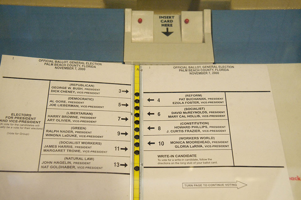 Palm Beach County, Florida 2000 Official General Election Ballot (Photo courtesy of Brian Kusler/Flickr, Creative Commons)