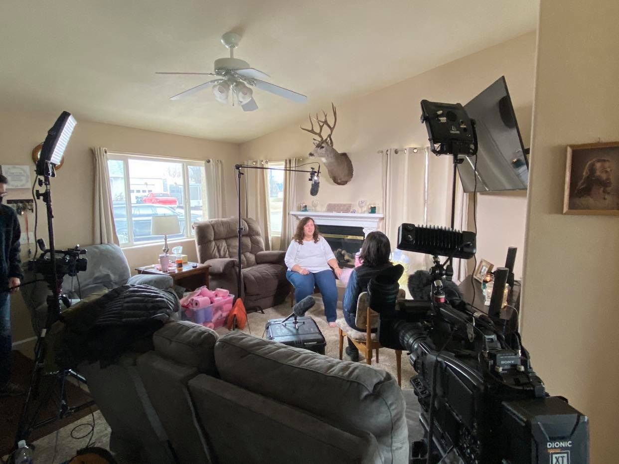 CNN brought a variety of camera equipment into Shelley Horn's home for the interview. (Photo: County 17)