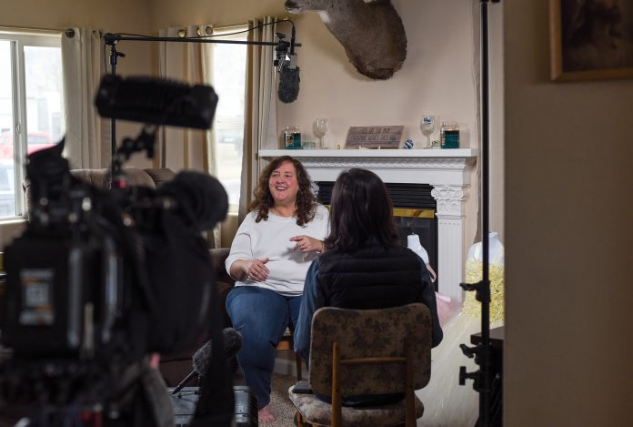Shelley Horn is interviewed in her home in Gillette, WY by CNN. (Photo: County 17 / Brooke Byelich)