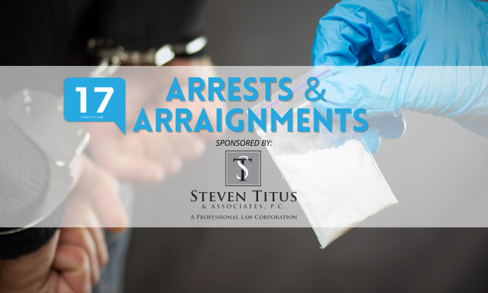 Arrests and Arraignments Sponsored by Steven Titus & Associates, P.C.