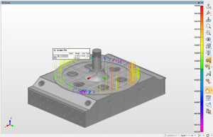 A 3-D view of the car body using Blue Ridge Inspection's measurement software.