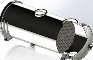 A 3-D image of the heat exchanger.