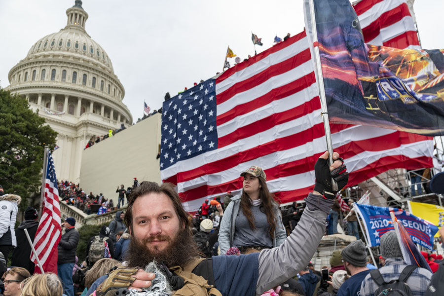 Protestors at the U.S. Capitol on Jan. 6, 2021 (Photo: Blink O'fanaye/Flickr, Creative Commons).