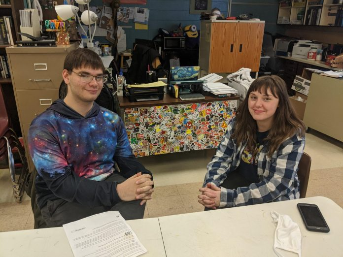 Campbell County High School students Anthony Monteleone and Danielle Beightol share their thoughts on texting and punctuation.