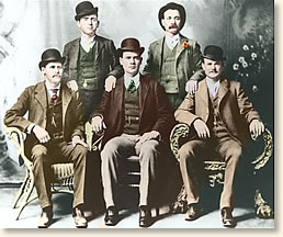 """The """"Hole in the Wall Gang"""" takes time out for a portrait. Fort Worth Texas, 1901. (Photo: Denver Public Library)"""