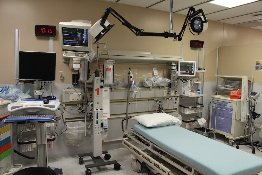 ninsured patients who cannot pay for their medical care often seek treatment at high-cost emergency rooms, like this one at Ivinson Memorial Hospital. (Gregory Nickerson/WyoFile)